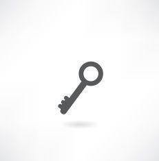 Key vector icon vector art illustration
