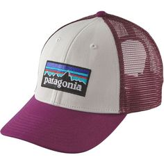 Patagonia P6 LoPro Trucker Hat ($22) ❤ liked on Polyvore featuring accessories, hats, mesh baseball hats, ball cap hats, patagonia, mesh ball caps and patagonia hats