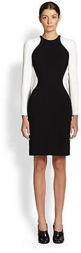 Stella McCartney Long-Sleeve Illusion Dress on shopstyle.com