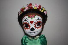 Customised sugar skull Tiana doll.  Check out my blog http://craftytiger77.blogspot.co.uk