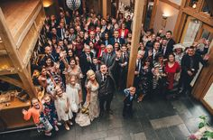The Oak Tree of Peover wedding, drinks reception, group