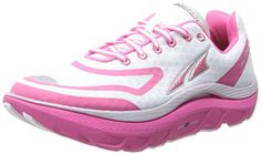 Altra Womens Paradigm Max Cushion Running ShoeWhitePink11 M US -- For more information, visit image link.