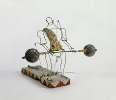 Alexander Calder, Rigoulot, the Strong Man, Weight Lifter from Calders Circus, Alexander Calder, Alexander Henry, Jean Arp, Piet Mondrian, Man Ray, Shaun Tan, Avant Garde Artists, How To Make Toys, Kinetic Art