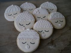 Baby shower hand baked and hand decorated sugar cookies by CREATEandBe on Etsy