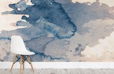 """Get that perfectly imperfect look with this Ink Blot Watercolour Paint wallpaper mural. For that grunge look that will instill that """"cool"""" effect, this wallpaper is easily a very solid option for any homeowner. Homeowners can utilize the wallpaper to bring forth a relaxing effect in the bedroom or as a calming atmosphere in the study."""