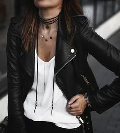 40 Leather Jackets You Can Rock This Winter/Fall 2016 - Style Spacez