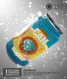 Soda Can / Beer Can / Soft Drink Can Mockup — Photoshop PSD #photo #layered • Available here → https://graphicriver.net/item/soda-can-beer-can-soft-drink-can-mockup/14135233?ref=pxcr