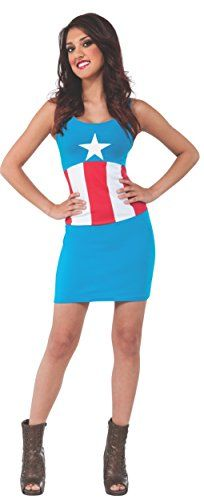Rubie's Costume Women's Marvel Universe Adult American Dream Tank Dress, Multi, Small Costumes Sexy Halloween, Halloween Costume Accessories, Captain America Costume, Thing 1, Costume Dress, Costumes For Women, Dream Dress, Tank Dress, American
