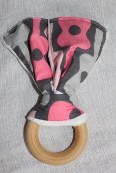 Cloth Diaper Burp Cloth & Teething Ring Set by MunchkinMerchandise, $13.50