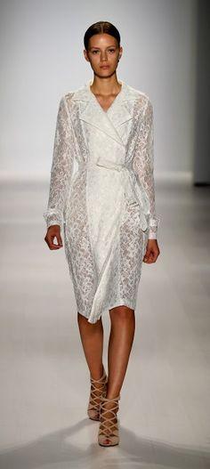 All white  Tadashi Shoji via http://mbfashionweek.com/designers/tadashi-shoji