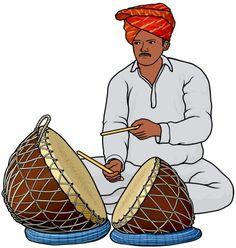 playing the nagara. Musical Instruments Drawing, Indian Musical Instruments, Wedding Background Images, Birthday Background Images, Basic Mehndi Designs, Bridal Henna Designs, Ganesha Drawing, Wedding Symbols, Hindu Symbols