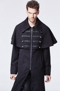 716a6721af89a Black jacket man with cape and buttons