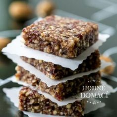 Tak dobré | Hodně domácí Raw Food Recipes, Sweet Recipes, Cake Recipes, Vegetarian Recipes, Dessert Recipes, Healthy Recipes, Healthy Cookies, Muesli, Sweet Cakes