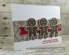 Just in Case Stampin Up Cookie Cutter Christmas and Punch, Christmas Card http://www.stampstodiefor.com
