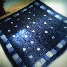 Crocheted blanket. Yarn is beautiful Aran yarn from New Lanark Mill, Scotland.  Colors glow. Ijust love them.  #crocheted #colorlove #virkkaus #aranyarn #newlanark #scottishyarn #newlanarkmills