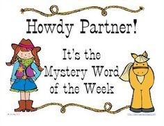 Mystery Word of the Week!!  My kiddos love this.  Includes clues/posters to print and post.  Instant interactive bulletin board.