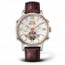 "Herrenuhr Ingersoll ""Grand Canyon II"", Leder, Gold, Klassisch"