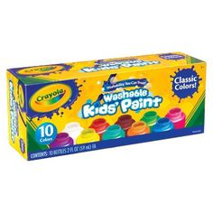 Nurture your child's creativity and have fun doing it!  Crayola 10ct Washable Paints only $25.00