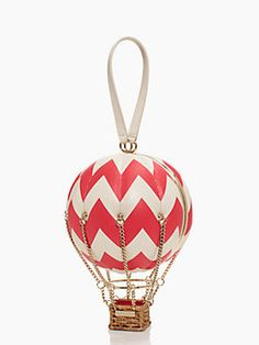 flights of fancy balloon bag, antique white/aladdin pink (Kate Spade)
