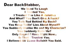 Backstabbing Friends Quotes Tumblr | backstabbing su Tumblr