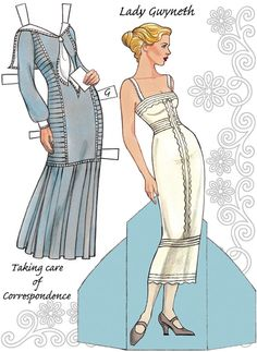 Dover English Country Paper Dolls in the Downton Abbey Style Doll 1