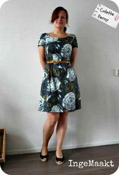 Colette Peony dress | Kollabora - lowered neckline