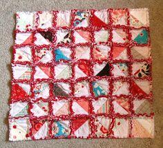 Happy Quilting: A HST Rag Quilt Tutorial
