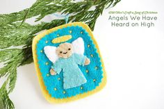 Angels We Have Heard on High Felt Ornament by wildolive, via Flickr