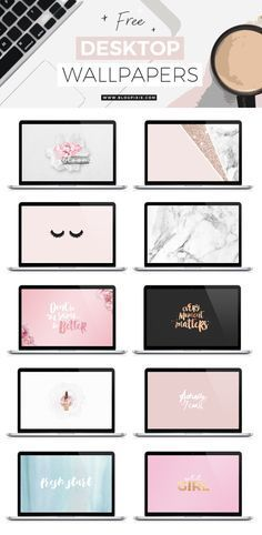 Free desktop wallpapers / background downloadables for 2017! Blush pink, rose gold, glitter, marble and more. Visit www.blogpixie.com for more freebies x