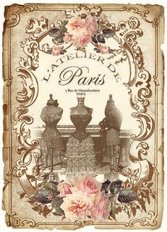 9 Best Images of Paris Free Vintage Printables - Vintage Paris Printables Free, Free Digital Vintage Paris Labels and The Graphics Fairy Paris Printables Vintage Paris, Éphémères Vintage, Images Vintage, Vintage Labels, Vintage Ephemera, Vintage Pictures, Vintage Postcards, French Vintage, Vintage Stuff