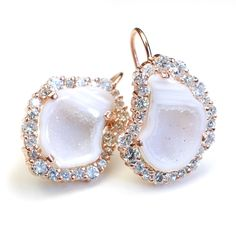 Geode Earrings Diamond Earrings Diamond Geode Earrings by NIXIN, $4,140.00