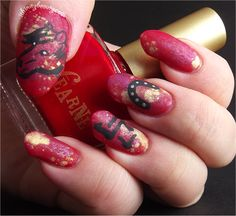 Chinese New Year Nail Art ~ Year of the horse