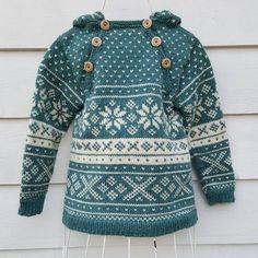Snøhetta anorak and sweater von SiSiVeAS auf Etsy Knitting For Kids, Free Knitting, Baby Knitting, Crochet Baby, Knitting Patterns, Knit Crochet, Wooly Bully, Norwegian Knitting, Fair Isle Knitting