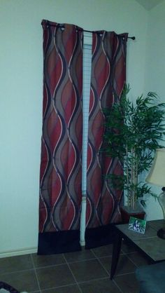 Added length to the bottom of curtains.