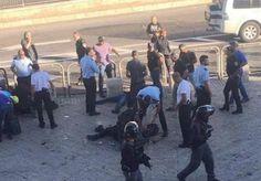 اصابة جنديين من الاحتلال في عملية طعن بالقدس واصابة المنفذ
