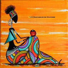 """""""Rast & # seated"""" colorful painting – About Hair Art Indien, African American Artwork, African Art Paintings, African Drawings, Afrique Art, Art Populaire, Art Premier, Inspiration Art, Tribal Art"""