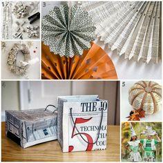 Upcycling the News | Newsprint and Newspaper DIY Craft Ideas