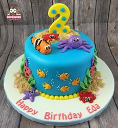 Under the sea cake, ocean cake, nemo cake, fish cake, octopus cake, starfish cake