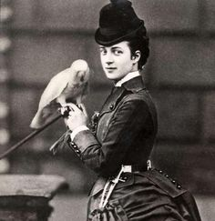 scotland 1890 photography portraits | heartspokesperson:Pss Alexandra of Wales and one of her pets. 1870s.