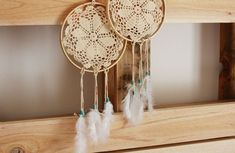 doily dream catchers!! (+ doily hangers + doily lamp) love these ideas.