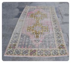 Oushak Rug255x125cm8.4x4.1 ftTurkish RugTurkish