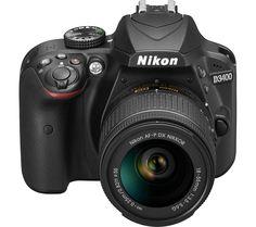 NIKON D3400 DSLR Camera with 18-55 mm f/3.5-5.6 Zoom Lens - Black