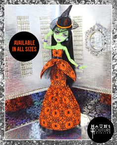 "Monster Doll hanter Couture All Hallows' Eve Glamour""robe robe de vêtements de mode"