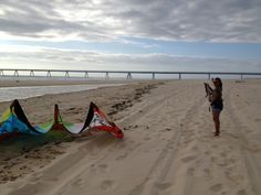 Steph before flying with the crazyfly kitesurf. Beach Mat, Outdoor Blanket, Sports, Products, Hs Sports, Sport