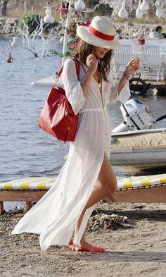ac792e35c5 ... China beachwear bikini Suppliers  HOT 2015 fashion women beach dress  sexy summer white chiffon maxi long dresses cardigan beach bikini cover up  holiday ...