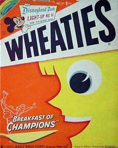 Treu 1953 Wheaties George Cartoon Ad ~ Kelly