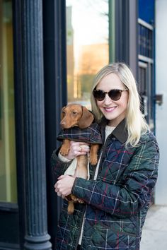 Barbour Tartan Quilted Jacket (And an Event Reminder!) - Kelly in the City