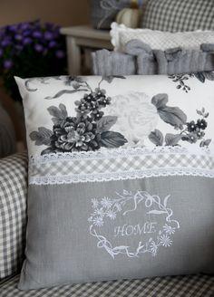 """home"" embroidery pattern Sewing Pillows, Diy Pillows, Custom Pillows, Decorative Pillows, Cushions, Throw Pillows, Cushion Covers, Pillow Covers, Shabby Chic Pillows"