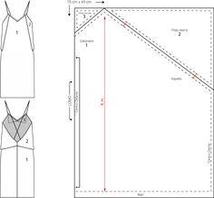 Patrón vestido lencero cero residuos zero waste