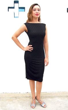 Black Tango Dress MIMOSA polk a dot lace mesh by TangoWithLove